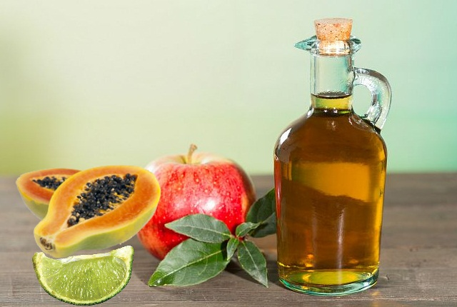 Papaya Apple Cider Vinegar Lime Juice Water