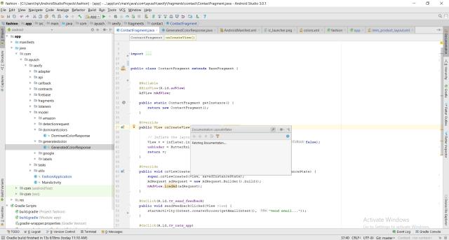 Documentation Android Studio Shortcut
