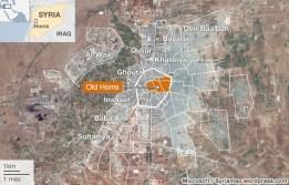 Хомс карта