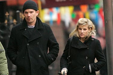 Tommy and Gina leaving the unemployment office.