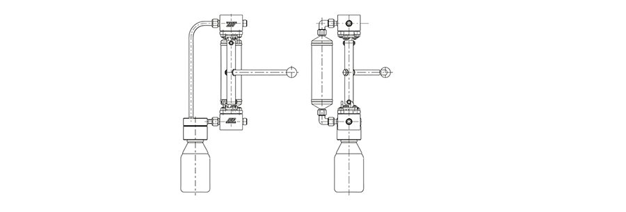 Sampling system for liquids, freely defineable sample size