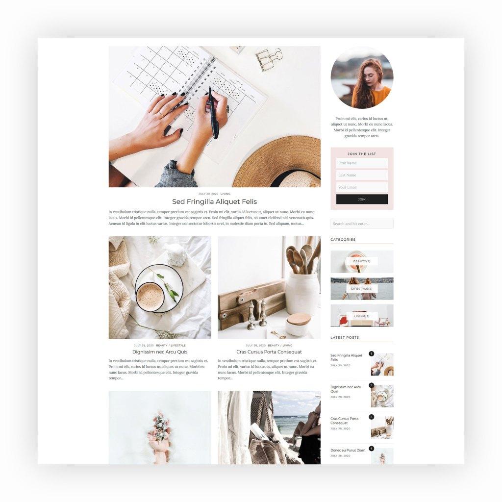 Rebecca - WordPress Blog Theme 2