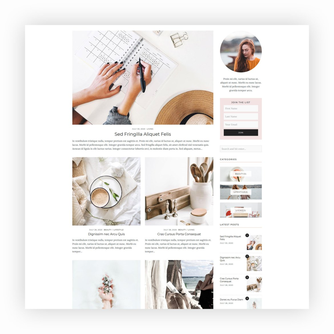Rebecca - WordPress Blog Theme 2
