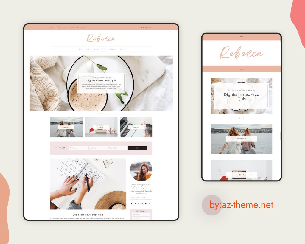 Rebecca WordPress Blog And Shop Theme