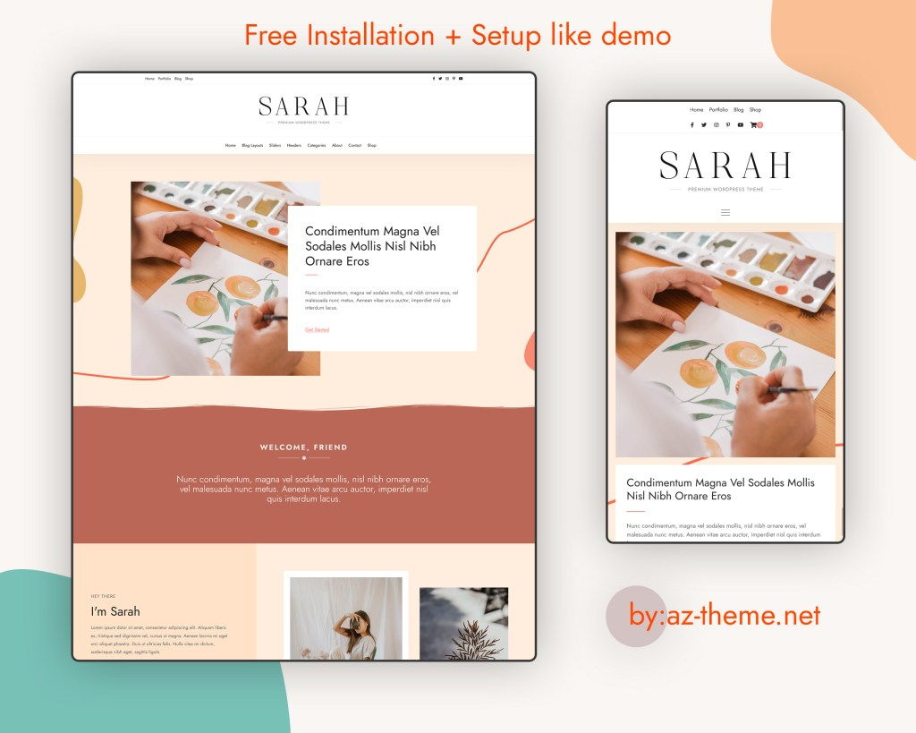 Sarah - Premium WordPress Theme