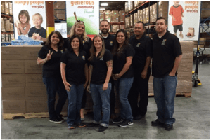 Team picture at St Mary's Food Bank
