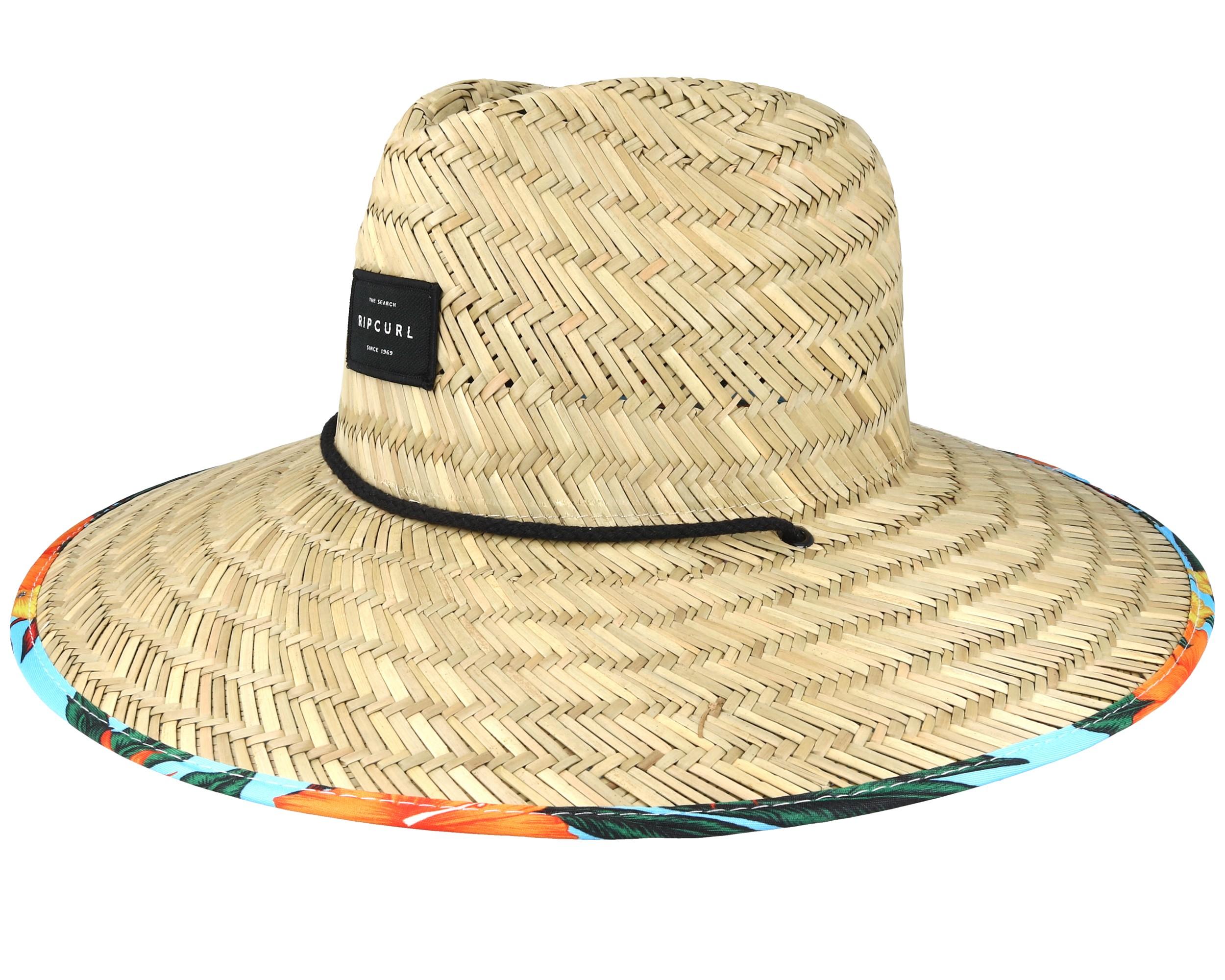 Yardage Straw Multi Blue Straw Hat