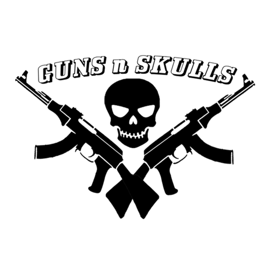 guns n skulls caps
