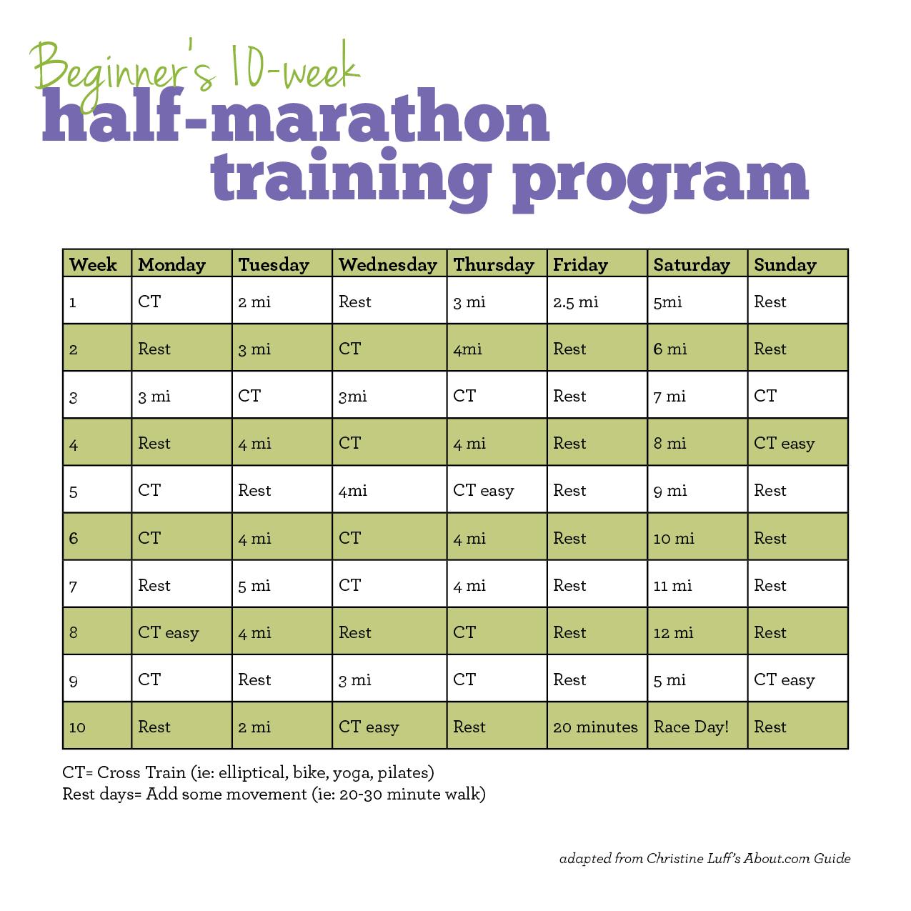 Running Training Calendar Template