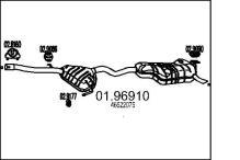 Silenciador trasero FIAT Bravo I (182) 2.0 i 20V 154cv