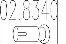 Raccord de tuyau, système d'échappement PEUGEOT 205 (741