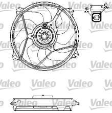 Ventilateur de refroidissement du moteur PEUGEOT 607 2.2
