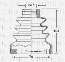 Soufflet de cardan NISSAN Terrano II (R20) 2.7 TDi Break