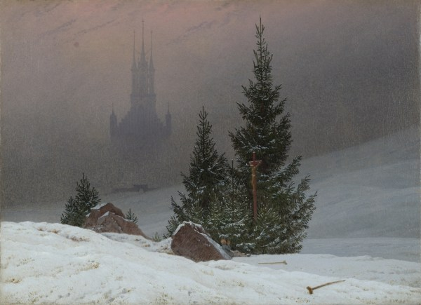"""""""winter landscape with church"""""""