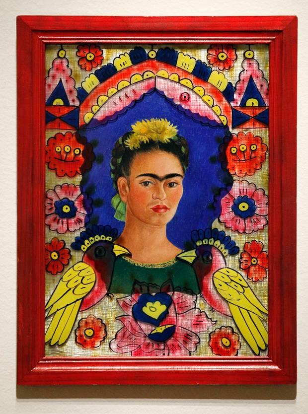 Self Portrait The Frame Frida Kahlo Artwork On USEUM
