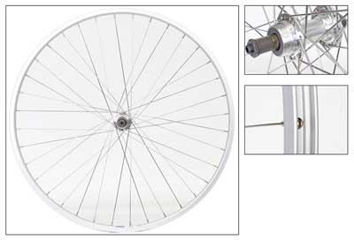 Wheel Rear 700c Weinmann LP18 Silver SFQR 5/7s Silver 36SS