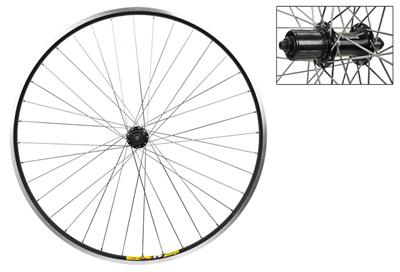 Wheel Rear 700c Weinmann ZAC19 Black MSW 36 Alloy 8S CASS