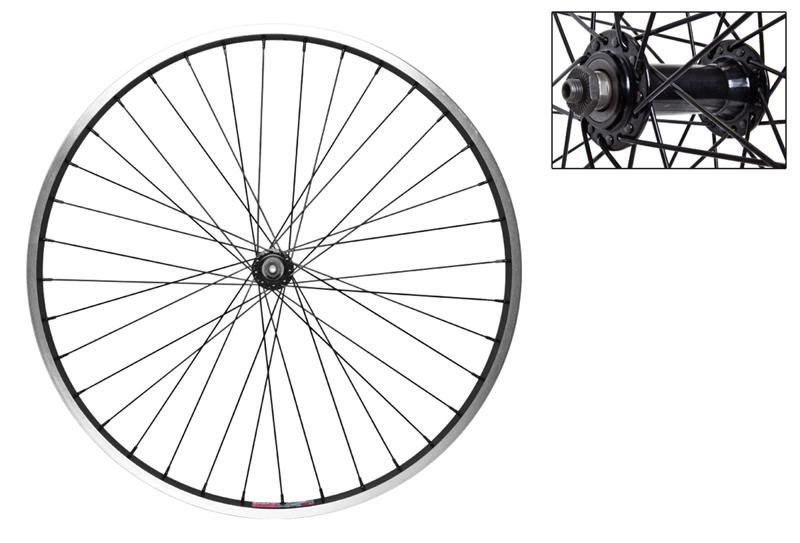 Wheel Front 26X1.5 Aly Bk Msw 36 Aly Qr Bk 14Gbk