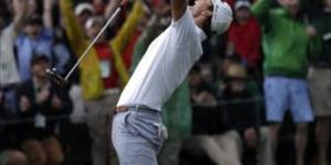 2,013 Masters champion Adam Scott sur la préparation à jouer.