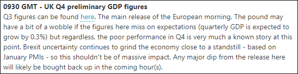 GBP GDP preview