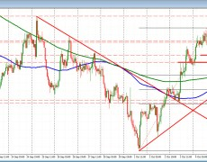 NZDUSD is lower (and NZD is one of the weaker currencies) but support holds