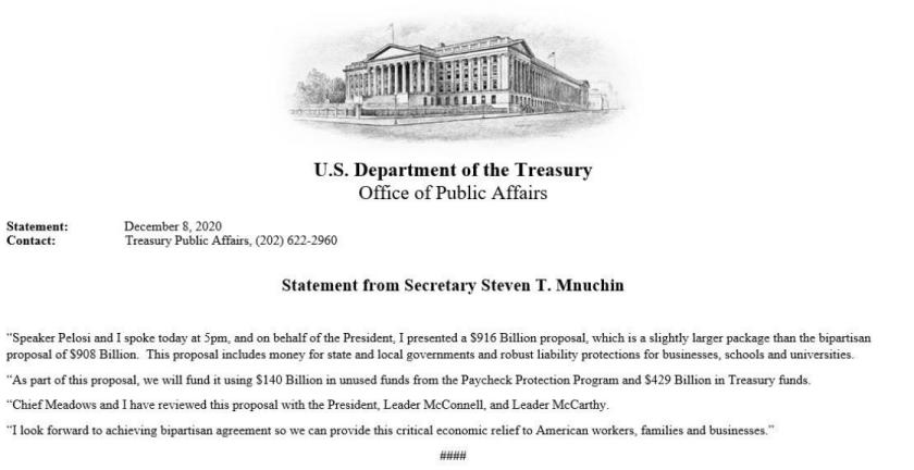 Mnuchin statement