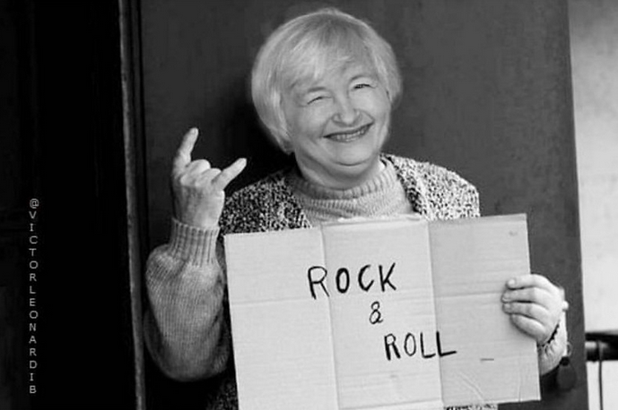 US Treasury Sec Yellen is on fire today.
