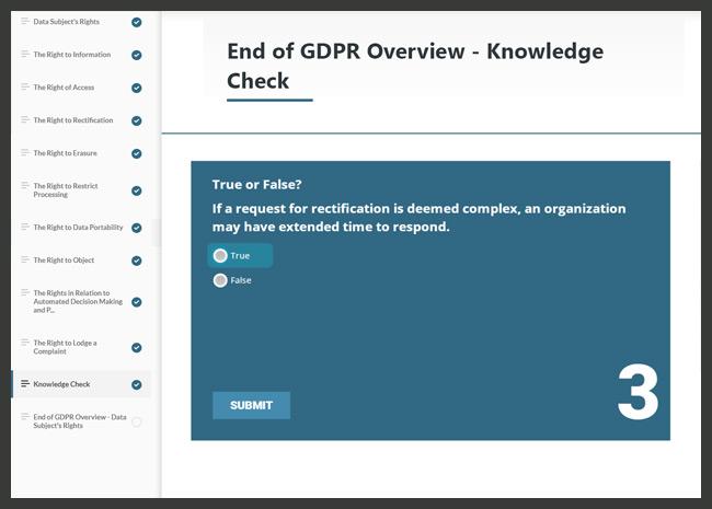 GDPR Awareness Screenshot 3