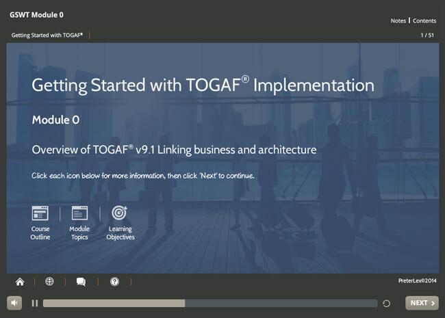 Implementation: TOGAF® 9 Screenshot 1