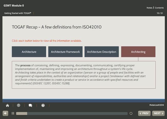 Implementation: TOGAF® 9 Screenshot 3