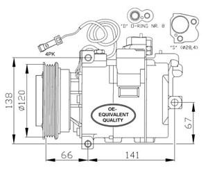 AC kompressor, AC kondensor, fläkt kylare & förångare