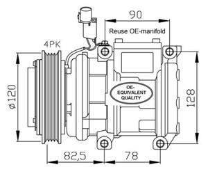 Air conditioner, AC compressor, condenser, pressure
