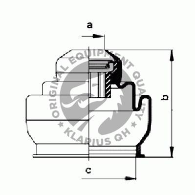 Boot Kit, drive shaft, Inner, Left front, Right front
