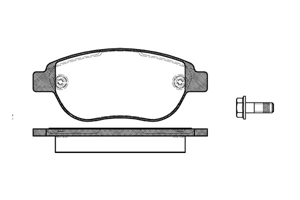 Brake Pad Set, disc brake, Front CITROËN BERLINGO, C3 I