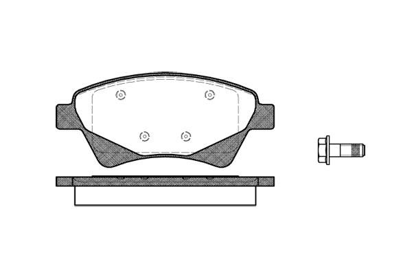 290616 Brake Pad Set, disc brake, Front RENAULT GRAND