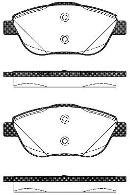 290802 Brake Pad Set, disc brake, Front CITROËN C3 II, C3