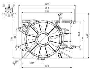 Radiator, Engine cooling, oil cooler, fan wheel, electric