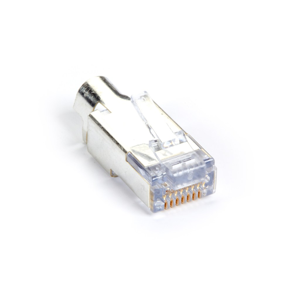 medium resolution of cat6 ez rj45 modular plug connector for round solid stranded wire shielded taa 100 pack