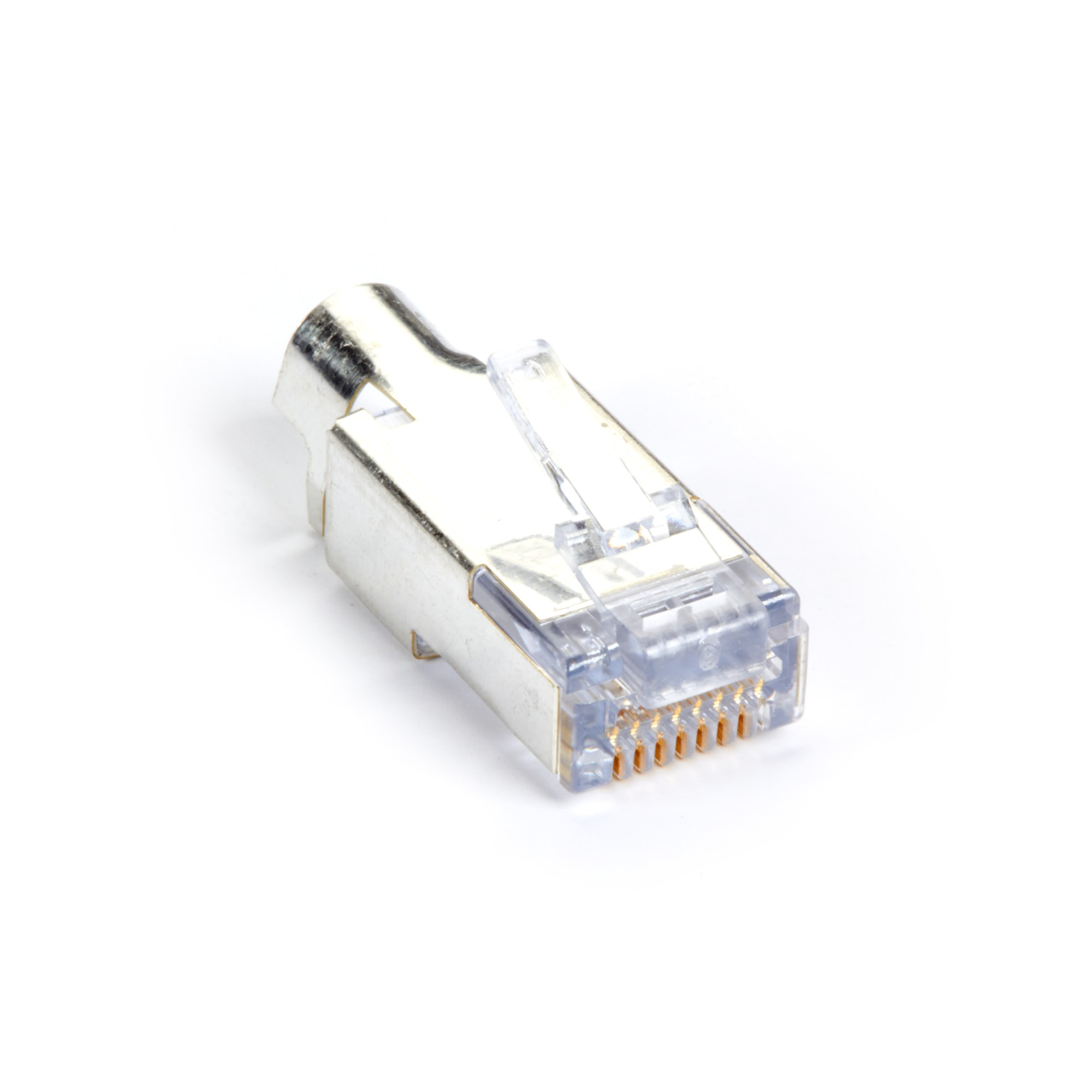 hight resolution of cat6 ez rj45 modular plug connector for round solid stranded wire shielded taa 100 pack