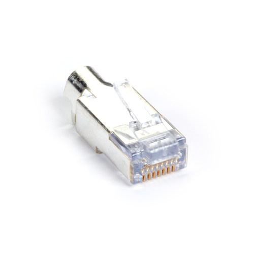 small resolution of cat6 ez rj45 modular plug connector for round solid stranded wire shielded taa 100 pack