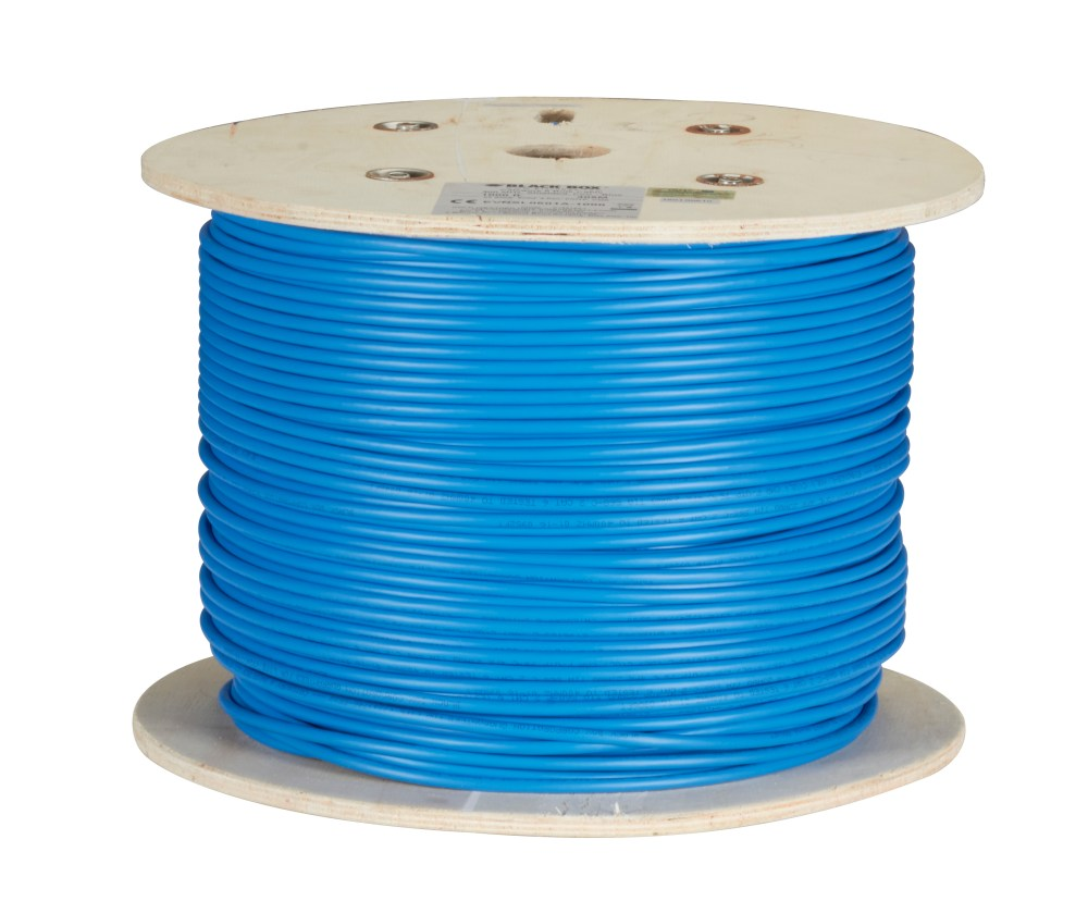 medium resolution of cat6 400 mhz solid bulk cable shielded pvc blue 1000 ft spool