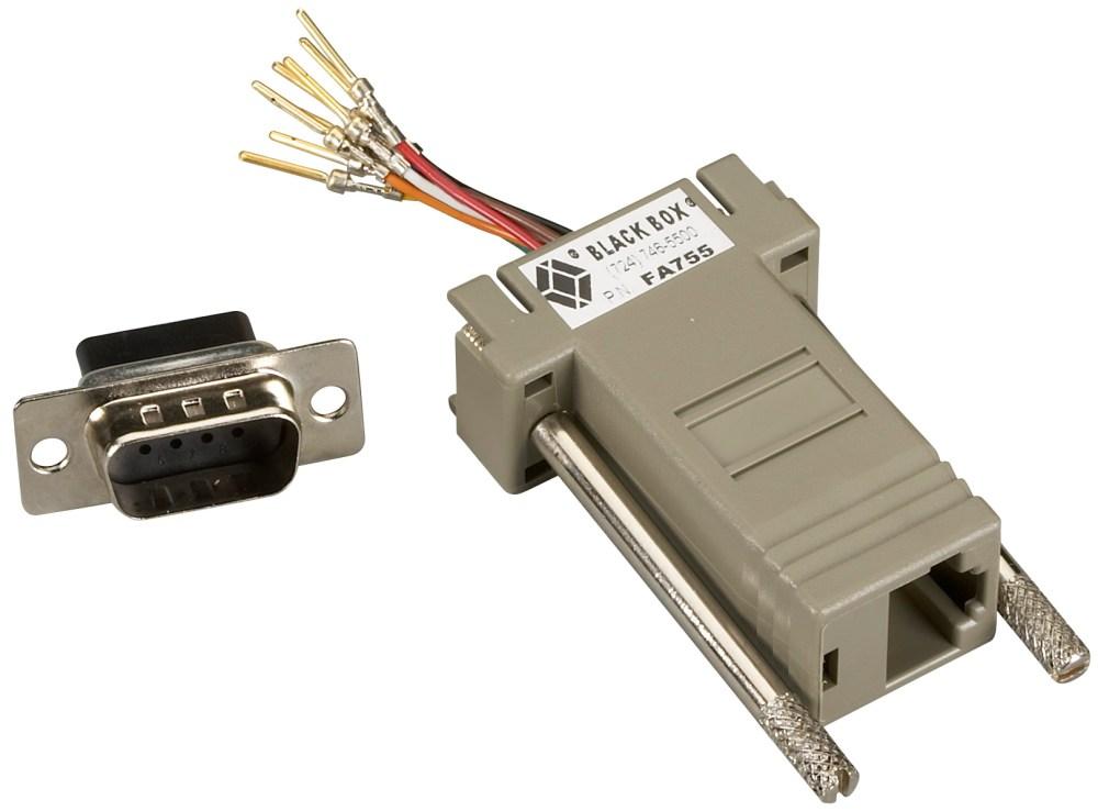 medium resolution of modular adapter kit db9 male to rj45 female 8 wire