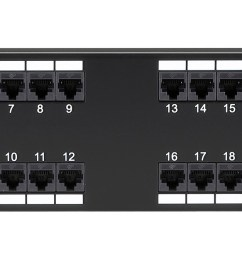 cat 5 telco patch panel 24 port t568b wiring 2ru black box rh blackbox com patch panel rack cat5 patch panel wiring [ 2550 x 668 Pixel ]
