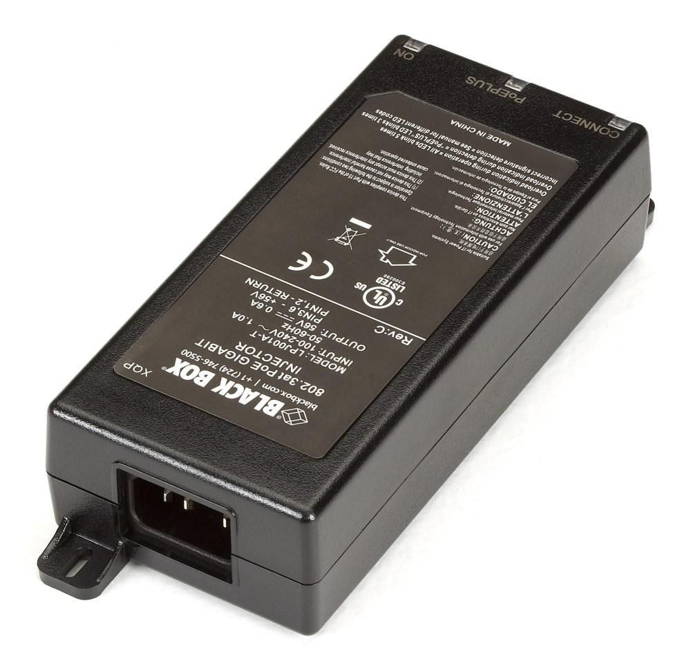 medium resolution of poe gigabit ethernet injector 802 3at 1 port