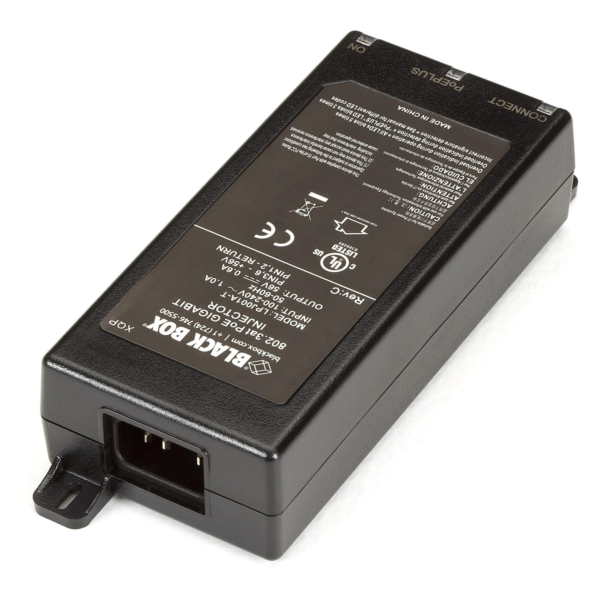 hight resolution of poe gigabit ethernet injector 802 3at 1 port