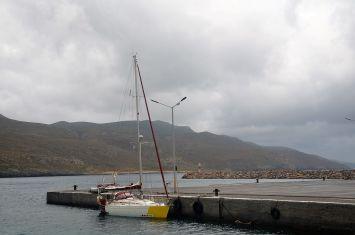 Azadi dans le port de Diakofti
