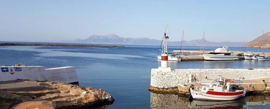 Kassos, entrée du port.