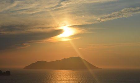 coucher de soleil depuis Milos