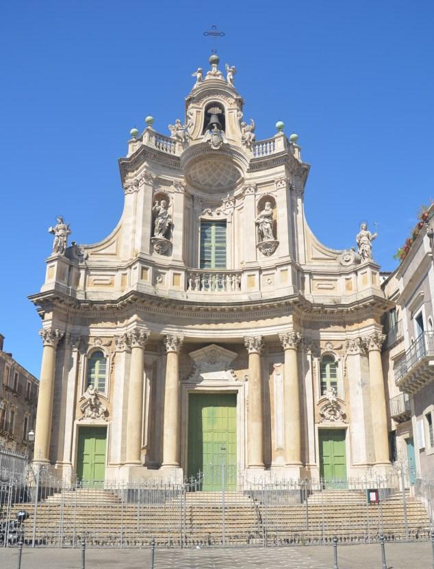 La Basilique Collégiale, dédiée à Marie de l'Aumône. Catane - Sicile 2020