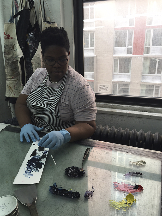 Candace mixing ink